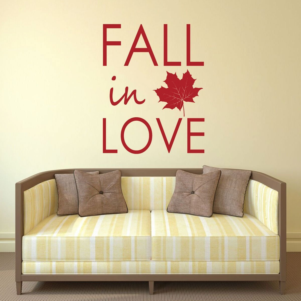 Fall Decoration - Fall in Love - Autumn Wall Art