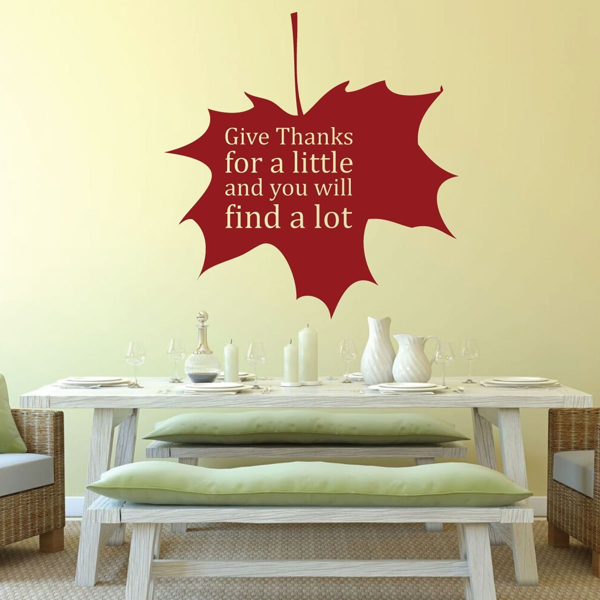 Give Thanks - Give Thanks For a Little and You Will Find a Lot - Give Thanks Decal