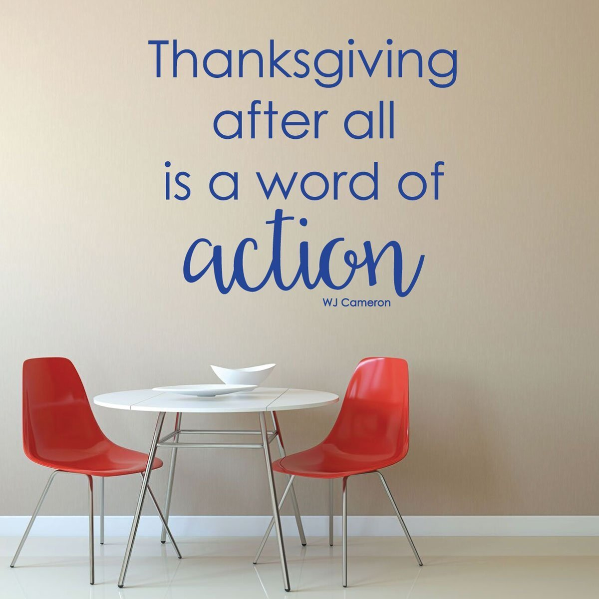 Thanksgiving Decor - Thanksgiving After All is a Word of Action
