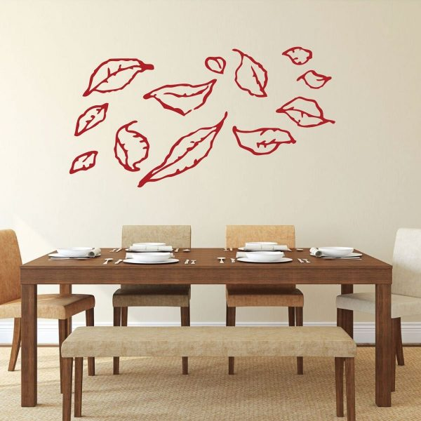 Fall Leaves Decoration - Fall Leaves Blowing in the Wind - Autumn Wall Art