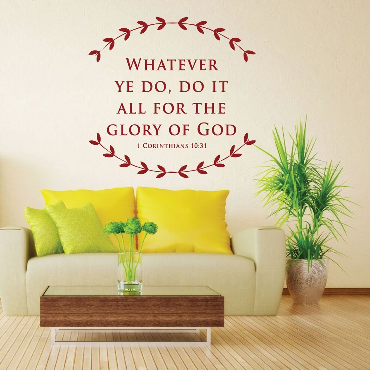 Amazing Vinyl Scripture Wall Art Pictures Inspiration - The Wall ...