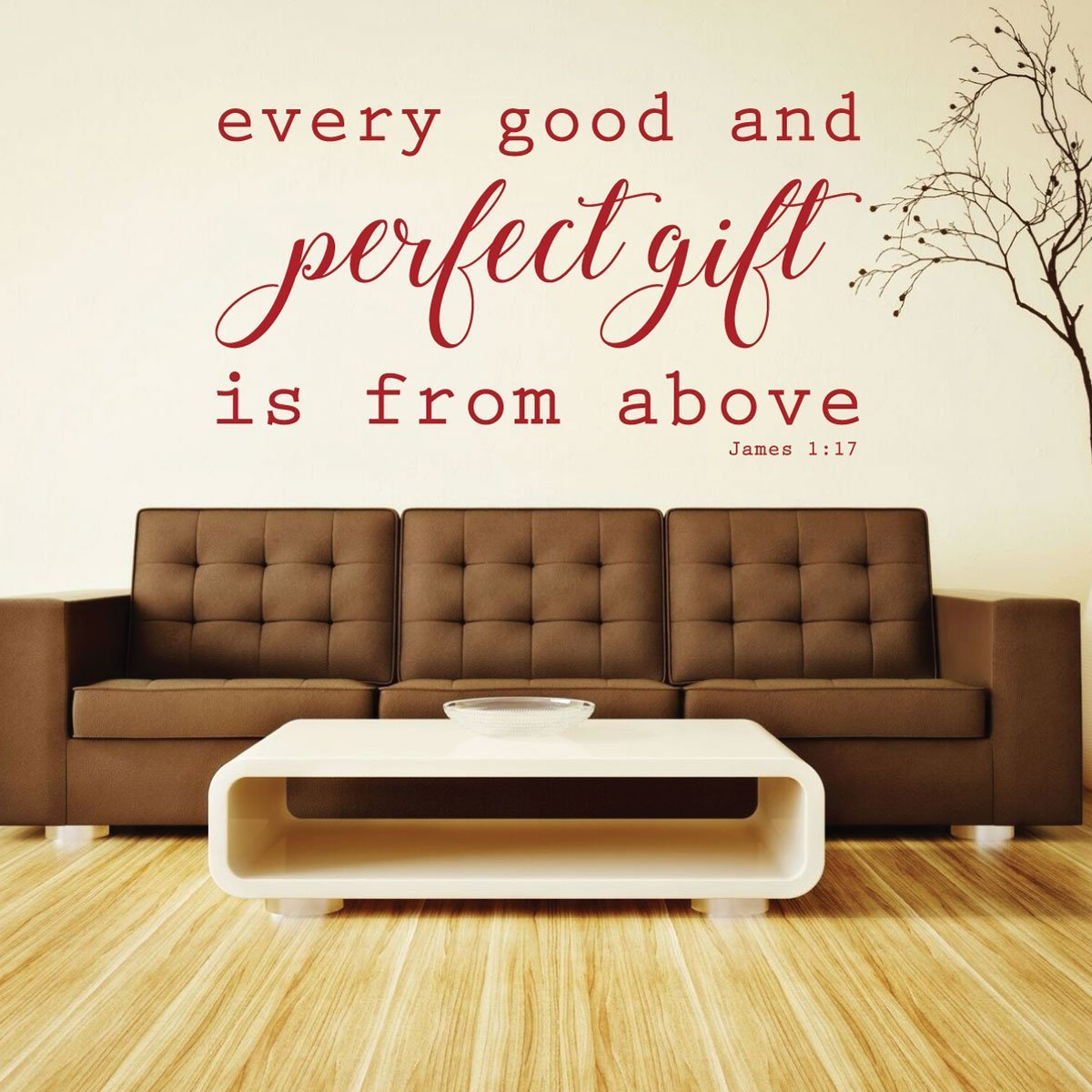Delicieux Bible Verse Wall Decals   James 1:17   Every Good And Perfect Gift Is
