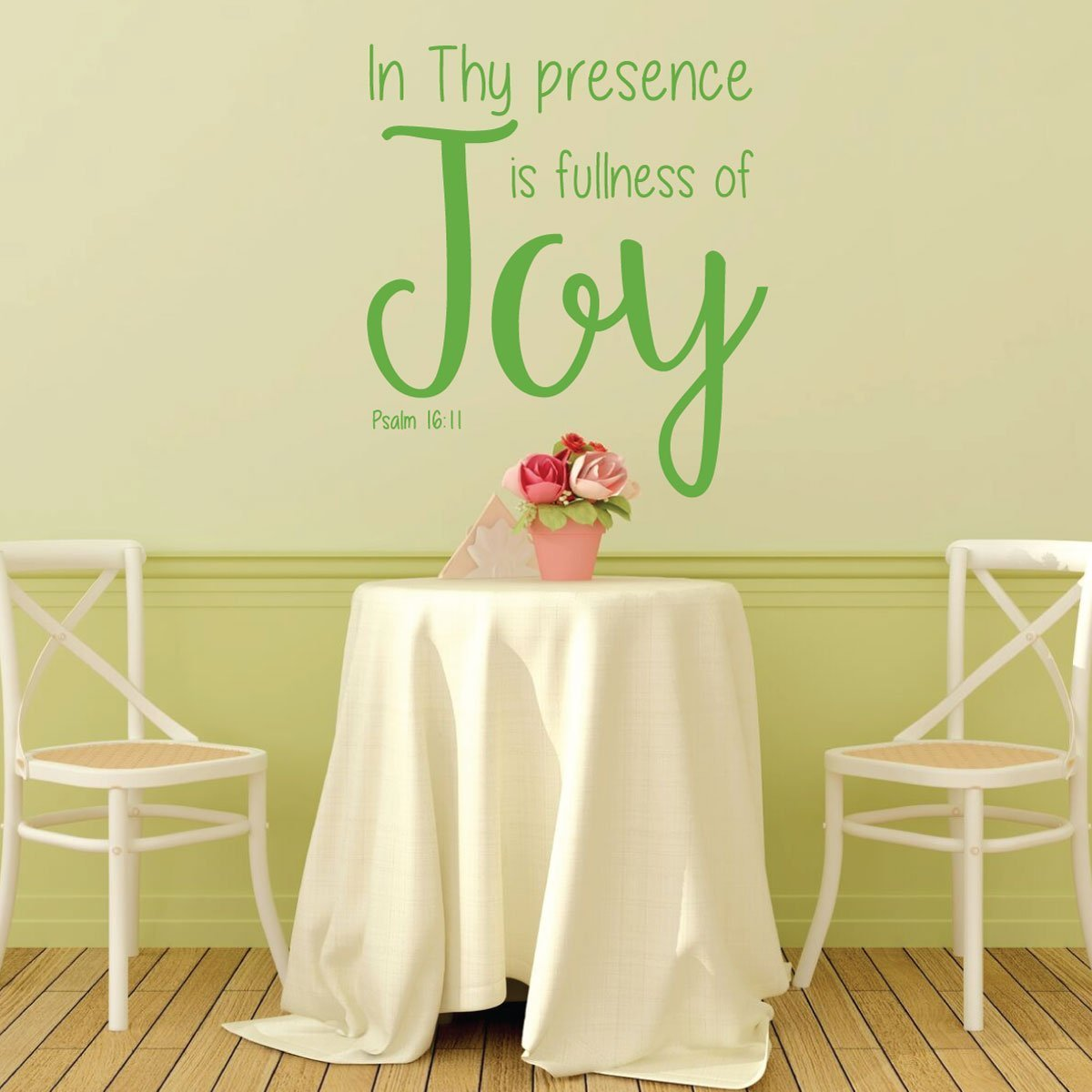 Bible Verse Wall Decal - Psalm 16:11 - In Thy Presence is Fullness of Joy