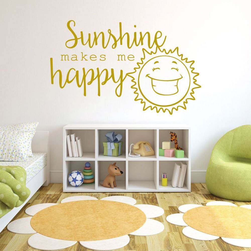 Playroom Wall Decals   Sunshine Makes Me Happy