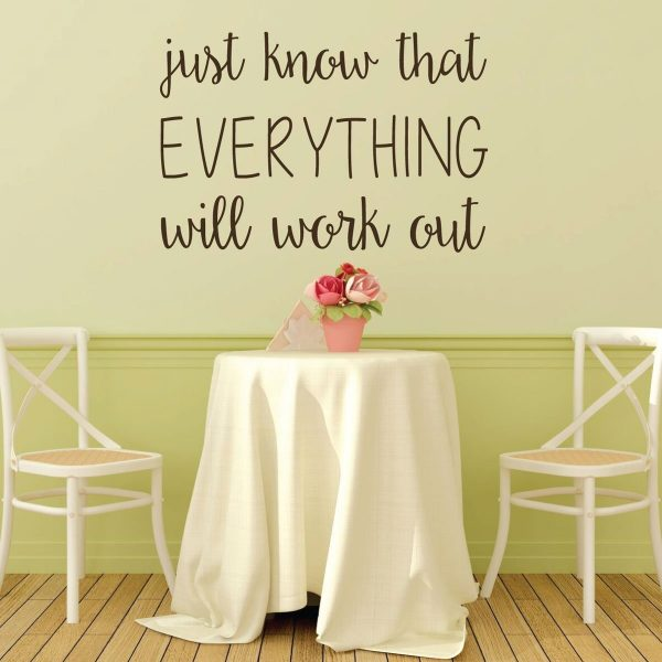 Encouraging Wall Art - Just Know That Everything Will Work Out