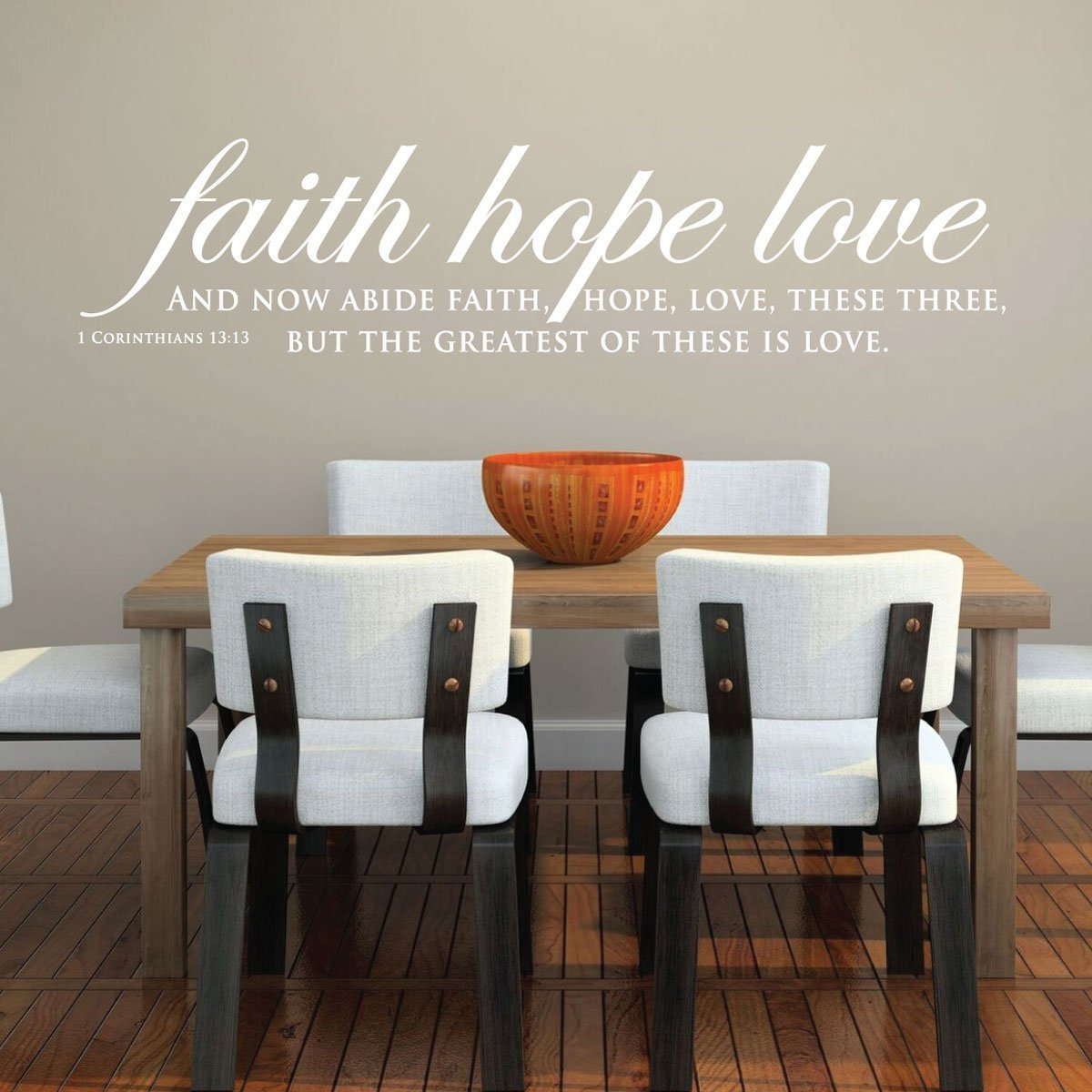 Charmant Bible Verse Wall Art   1 Corinthians 13:13 Wall Decal   Faith, Hope