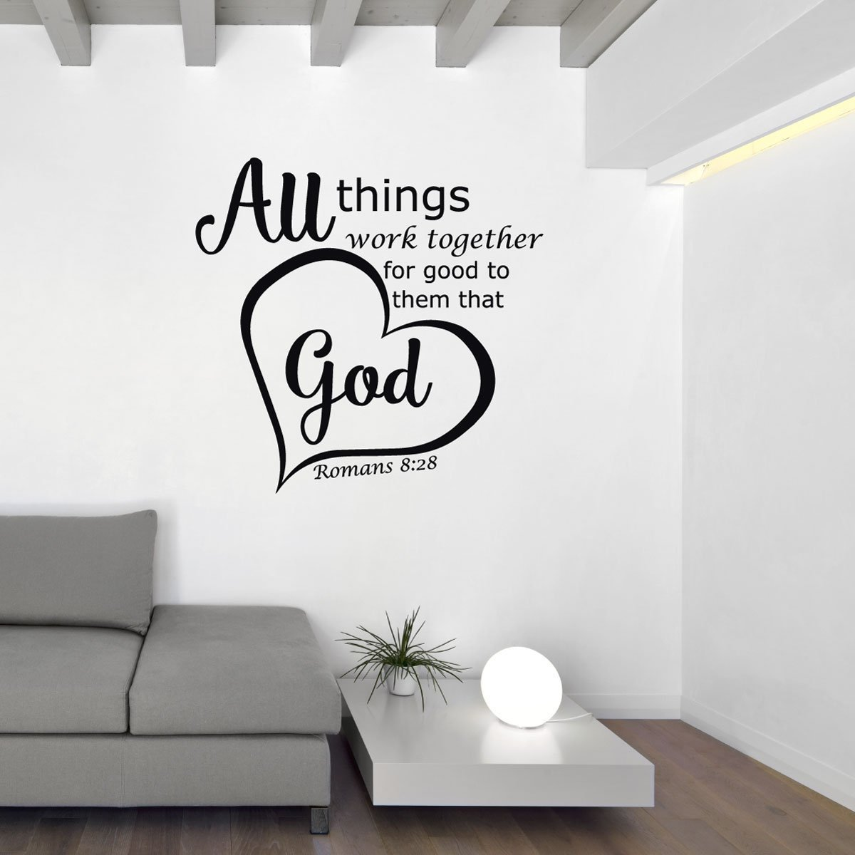 Bible Verse Wall Decals Romans 8 28 All Things Work