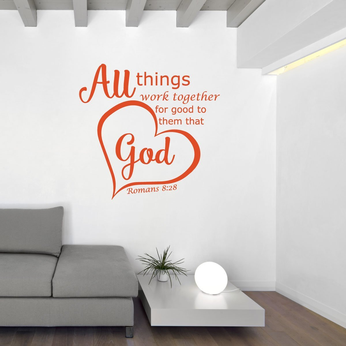 Bible Verse Wall Decals   Romans 8:28   All Things Work Together For Good