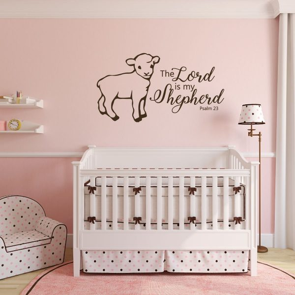 Psalm 23 Wall Decal - Bible Verse Wall Art - The Lord is My Shepherd