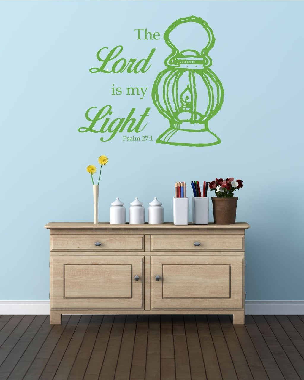 Bible Verse Wall Decals - Psalm 27:1 - The Lord is My Light