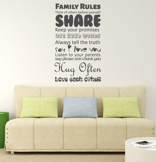 Family Rules Wall Art - Home and Family, Family Home Decor