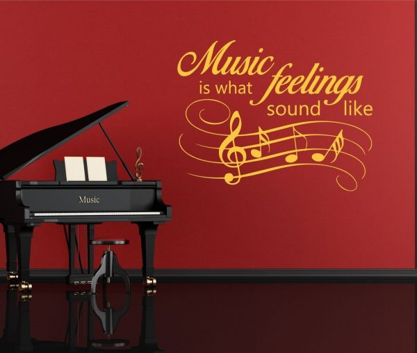 Music Quote Wall Decals - Music is What Feelings Sound Like