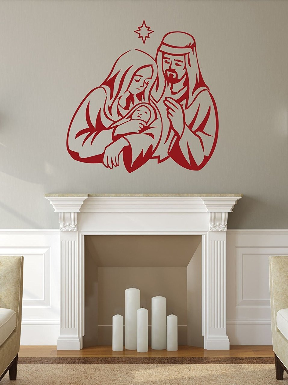 Holy Family Nativity   Christmas Wall Decals