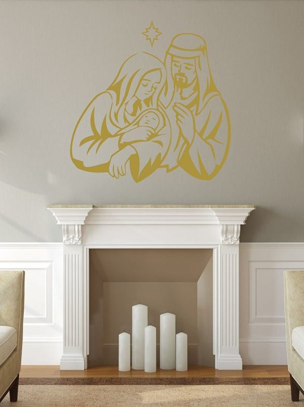 Holy Family Nativity - Christmas Wall Decals