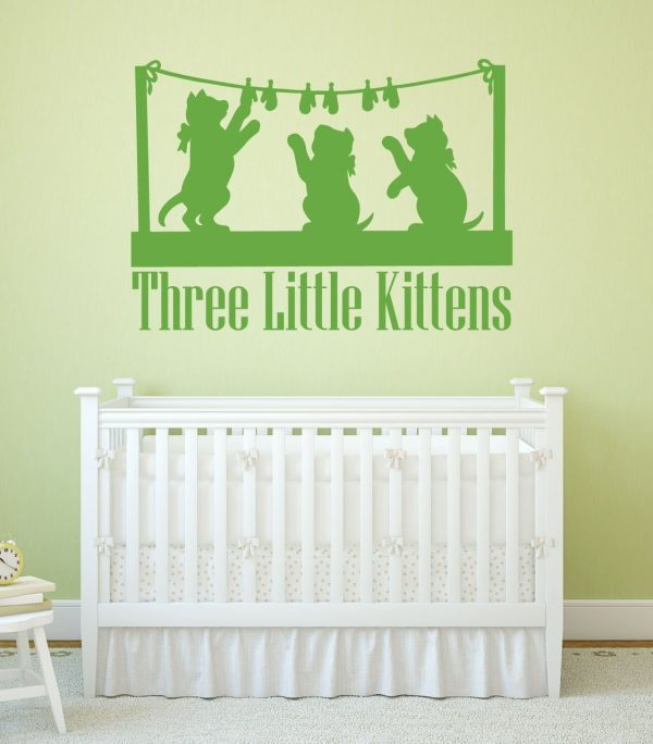 Nursery Rhyme Wall Decals - Three Little Kittens