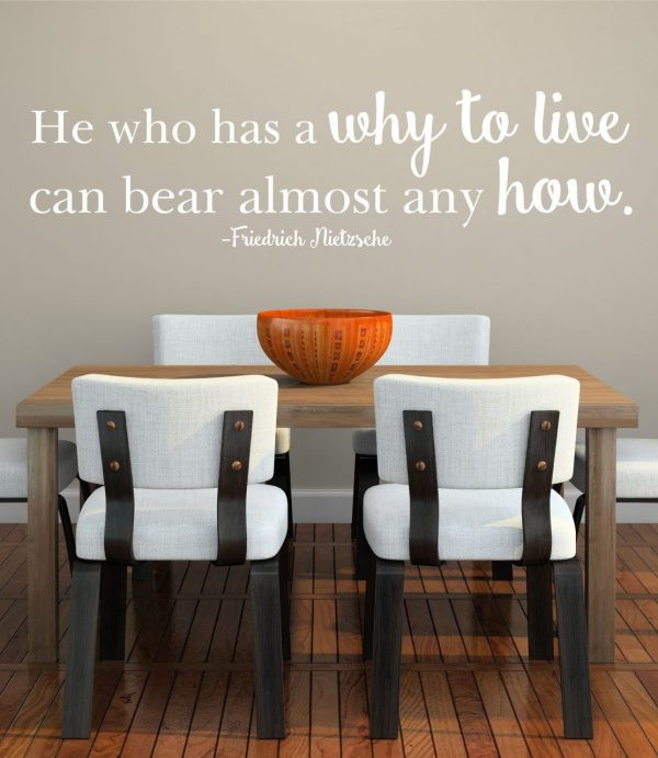 He Who Has a Why To Live Can Bear Almost Any How - Friedrich Nietzsche