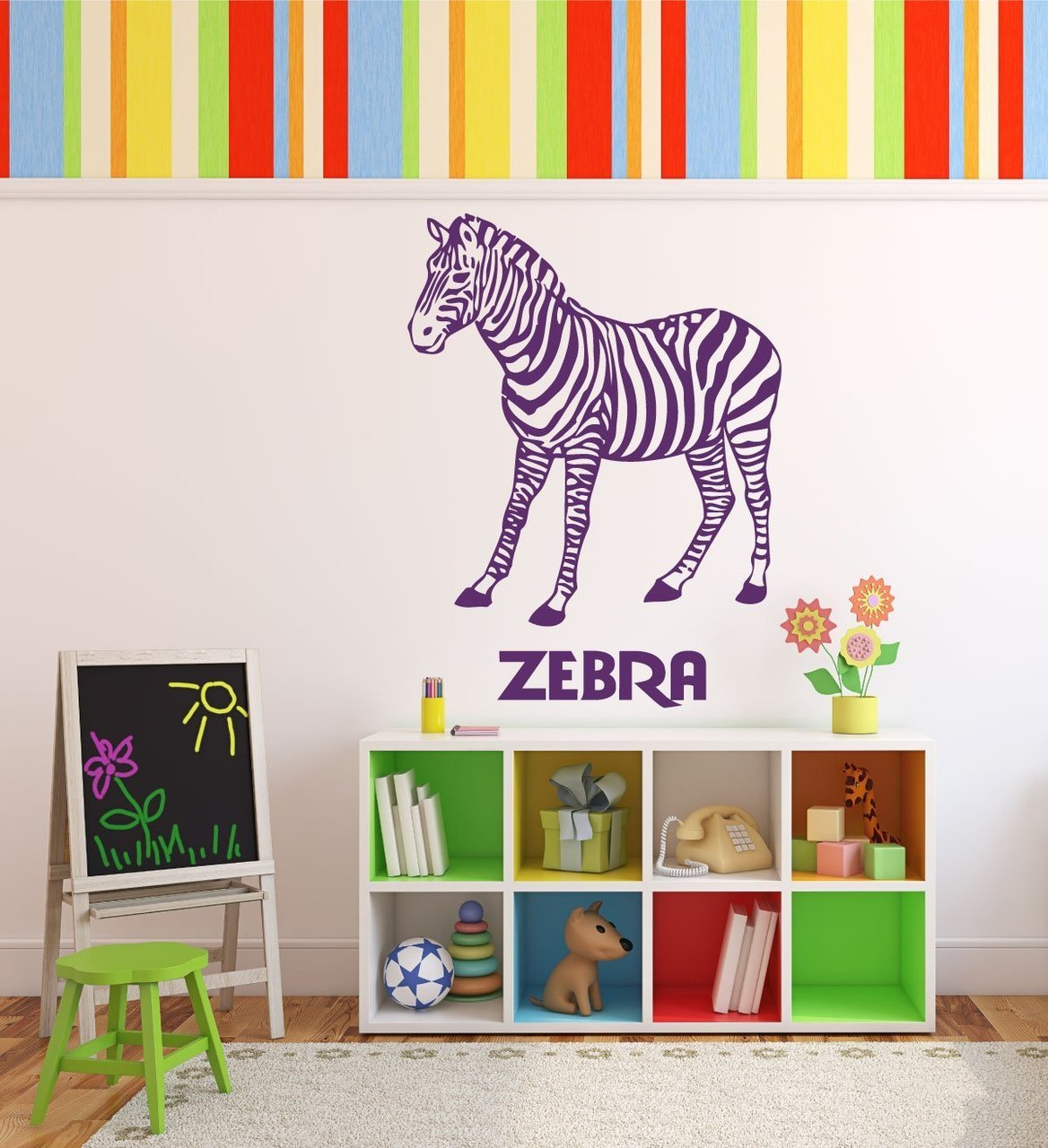 Zoo Animal Wall Decals Zebras Zoo Animal Party Supplies - Zoo animal wall decals