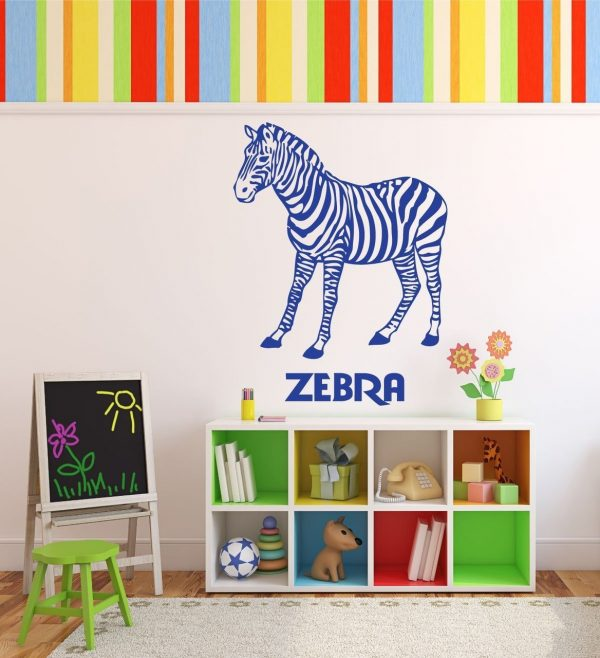 Zoo Animal Wall Decals - Zebras - Zoo Animal Party Supplies