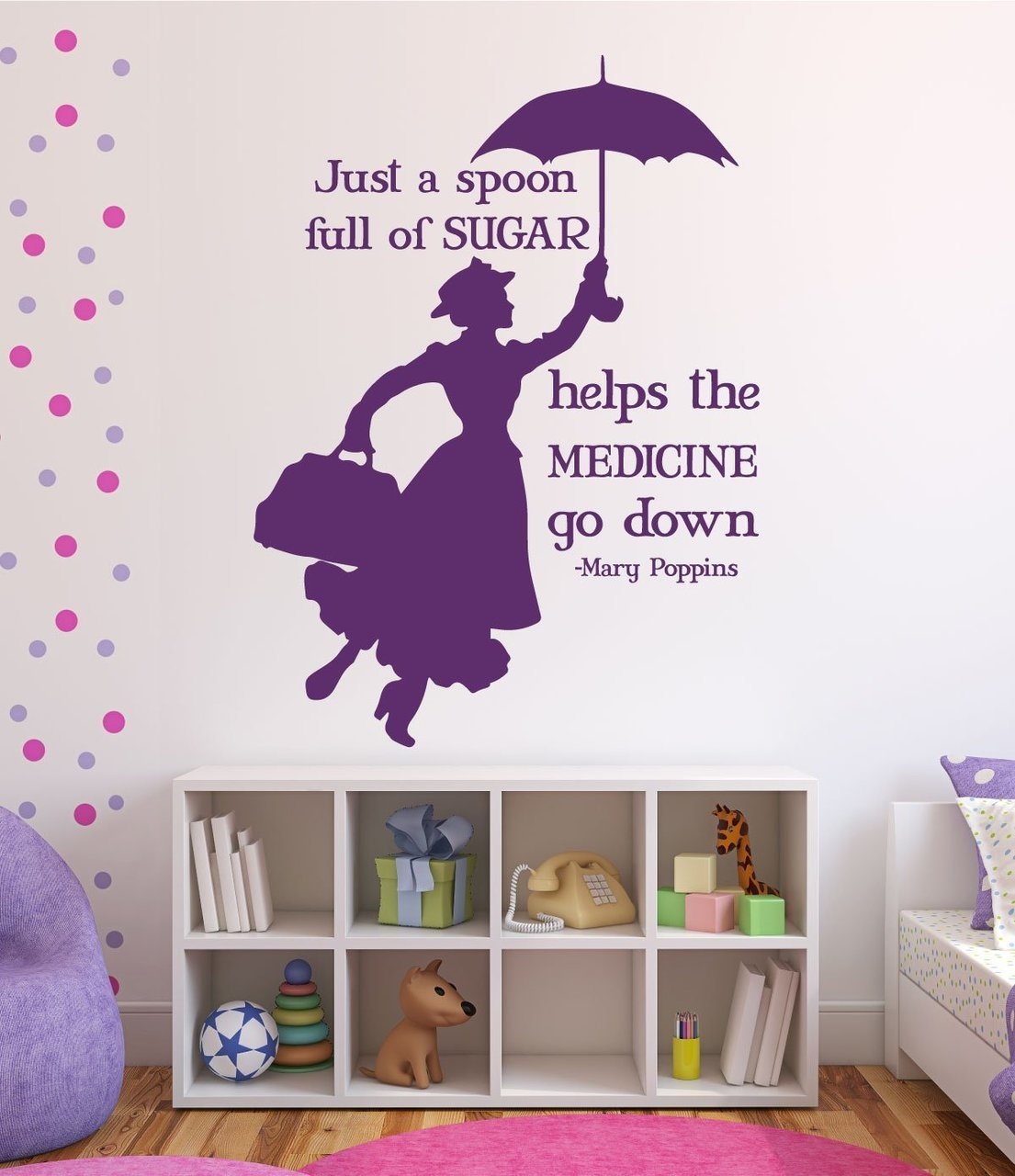 Disney wall decals mary poppins disney home decor for Disney home decorations