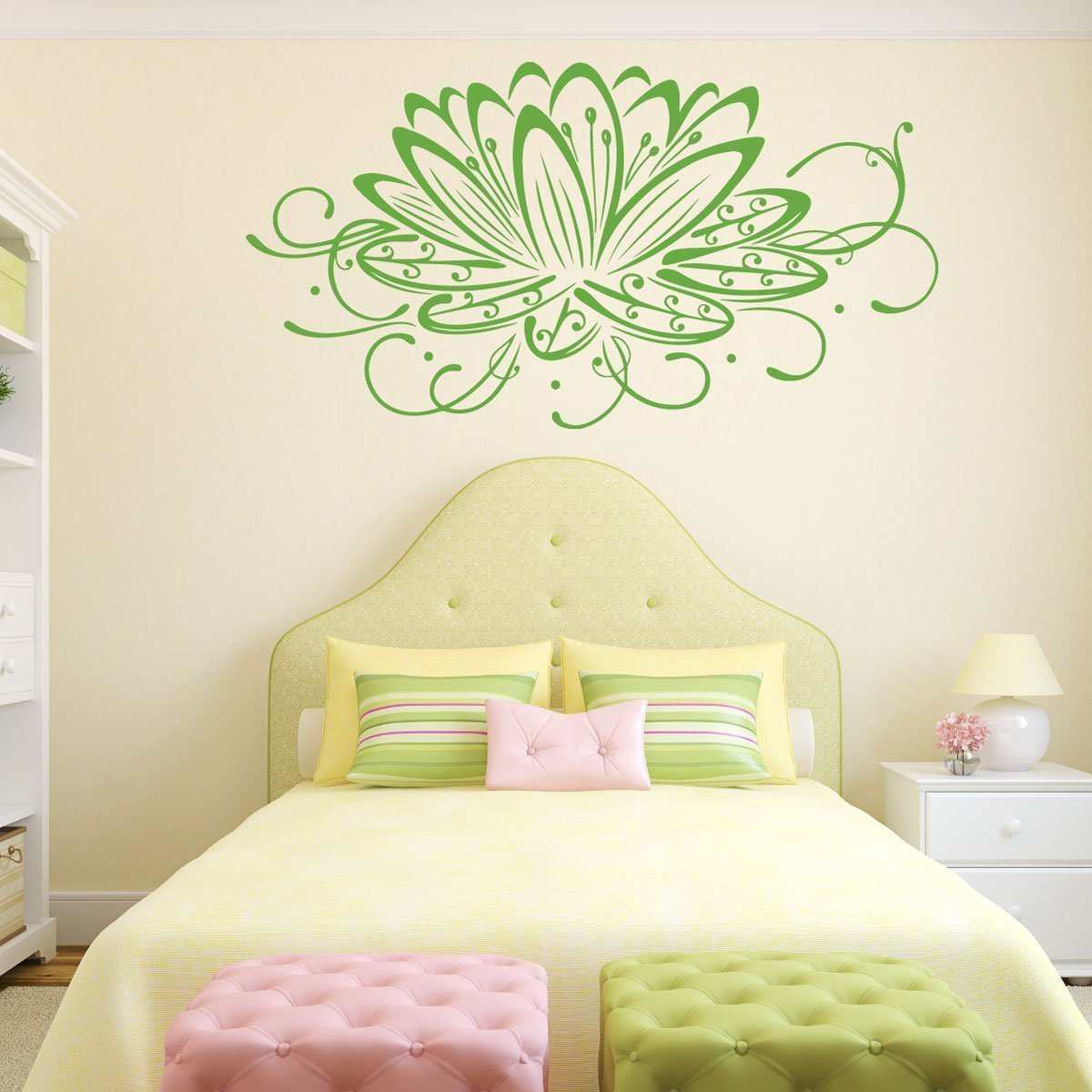 Lotus Flower Wall Decal   Flower Decals