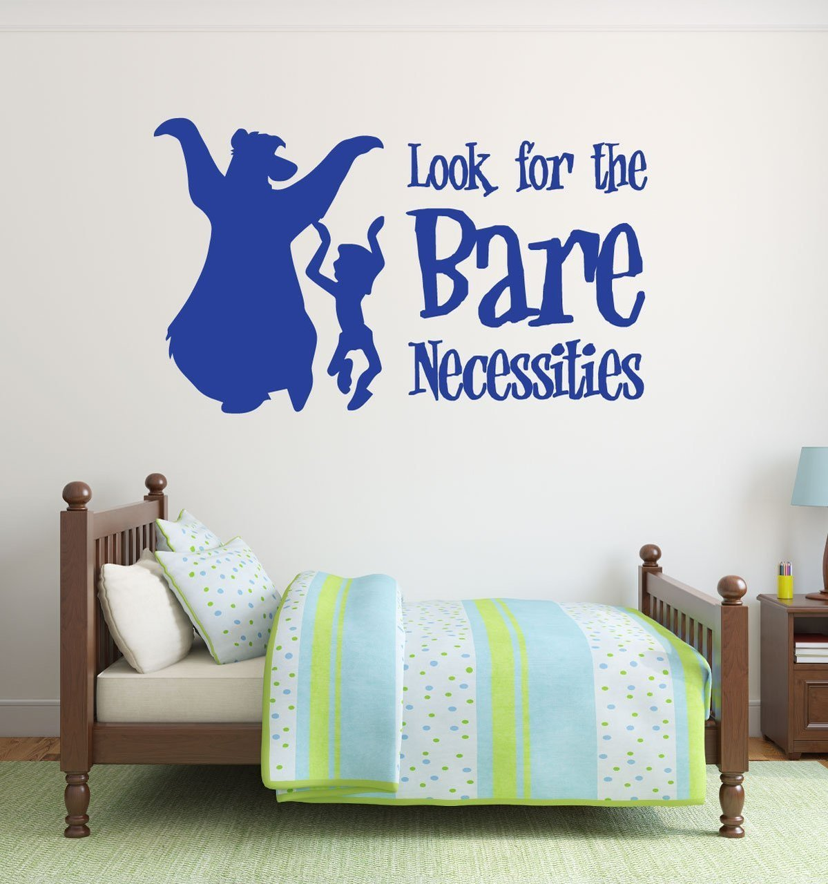 Disney Wall Decals - Baloo and Mowgli - The Bare Necessities