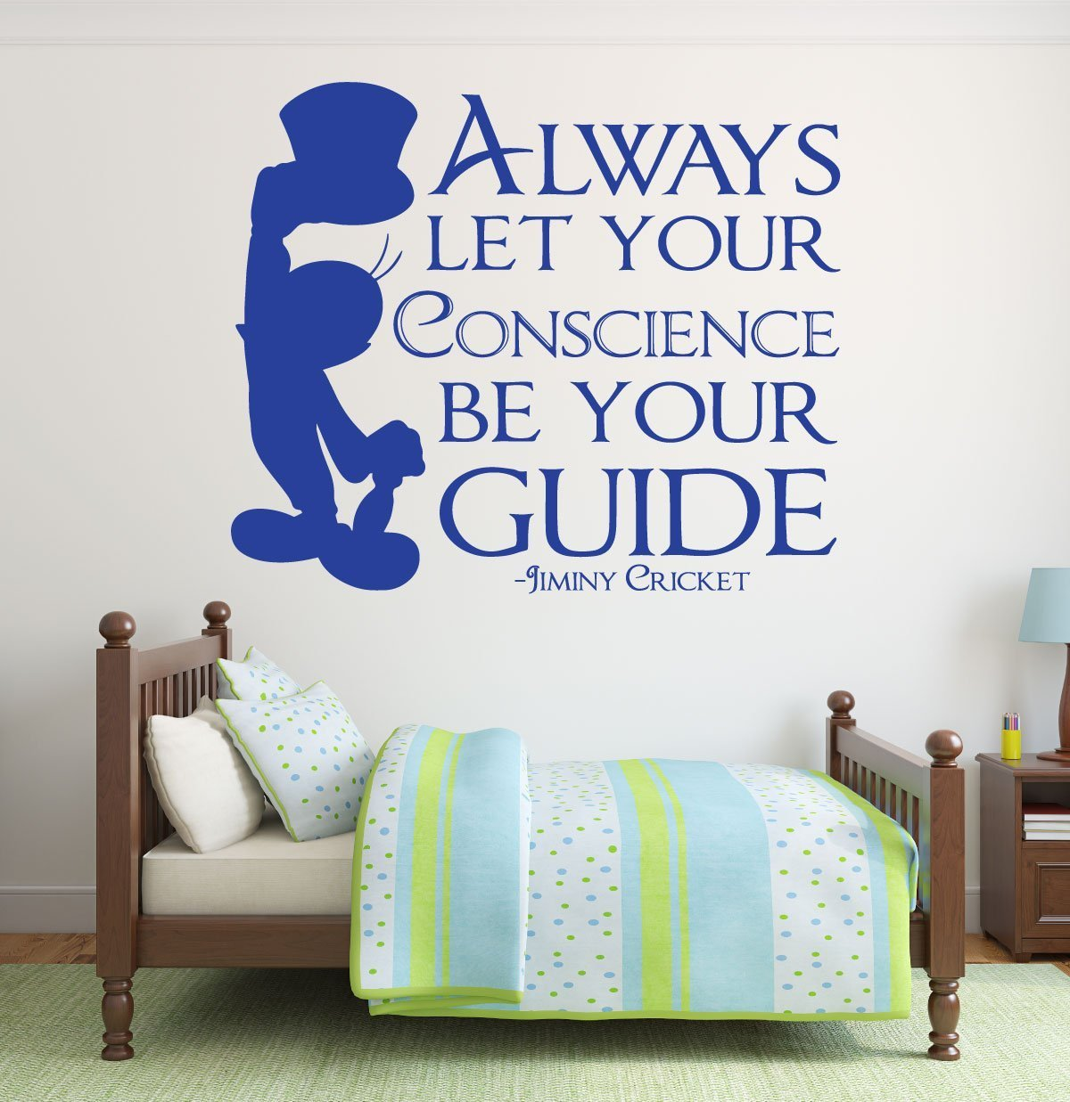 Disney Wall Decals   Jiminy Cricket Decal   Always Let Your Conscience Be  Your Guide