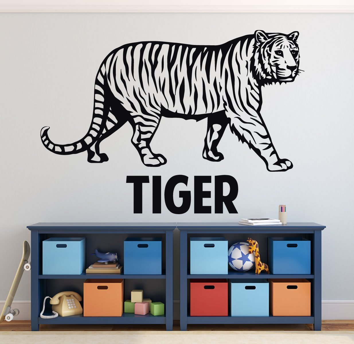 Zoo Animal Wall Decals - Tiger - Zoo Animal