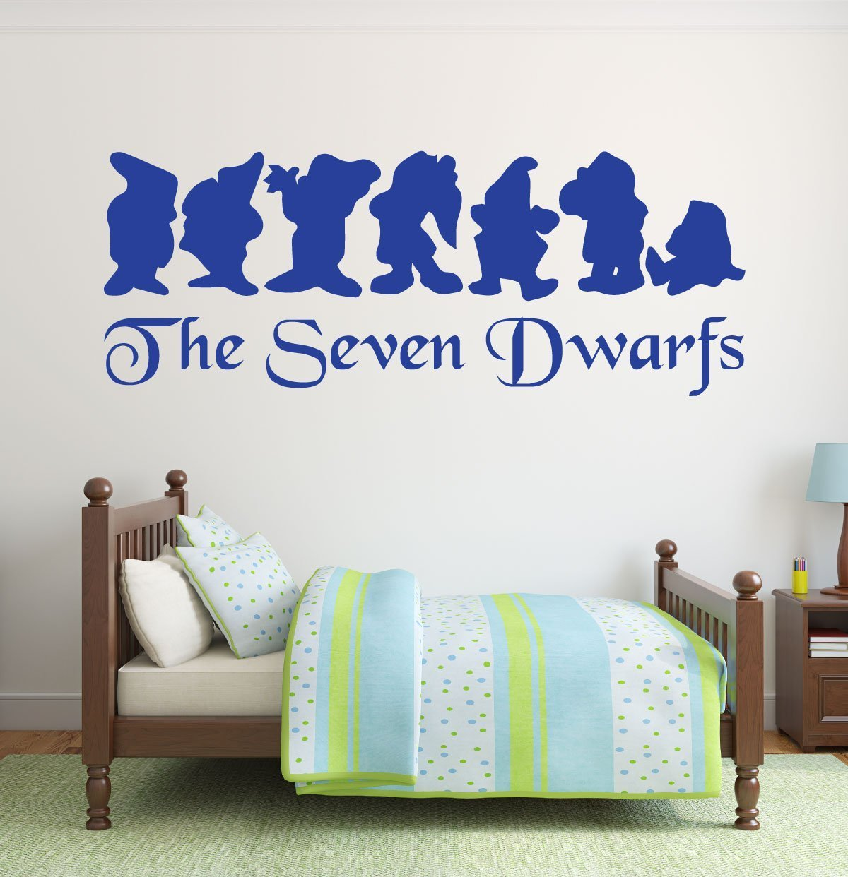 disney wall decals snow white and the seven dwarfs. Black Bedroom Furniture Sets. Home Design Ideas