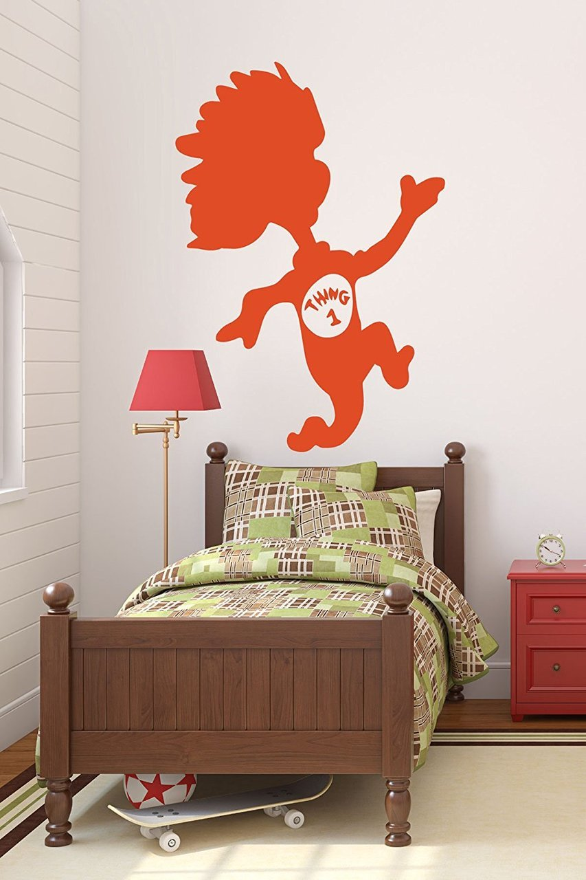 Dr seuss wall decals thing 1 for Dr seuss wall mural