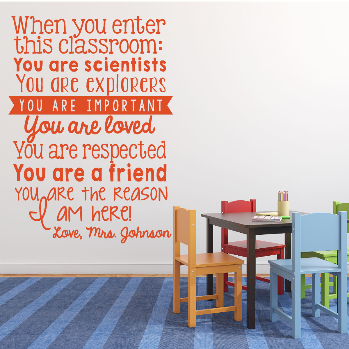 When You Enter This Classroom Personalized Vinyl Decal For Teachers and Classrooms