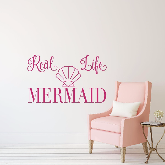 Mermaid Wall Decal With Seashell Sticker