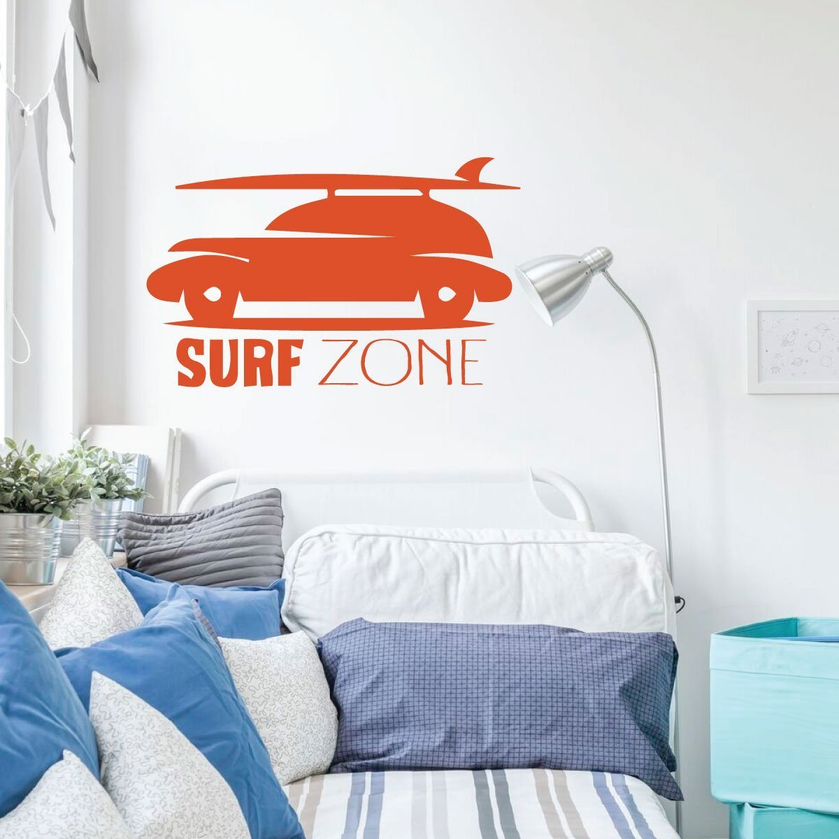 Surfing Wall Decor - Surf Zone Car - Wall Decals for Home