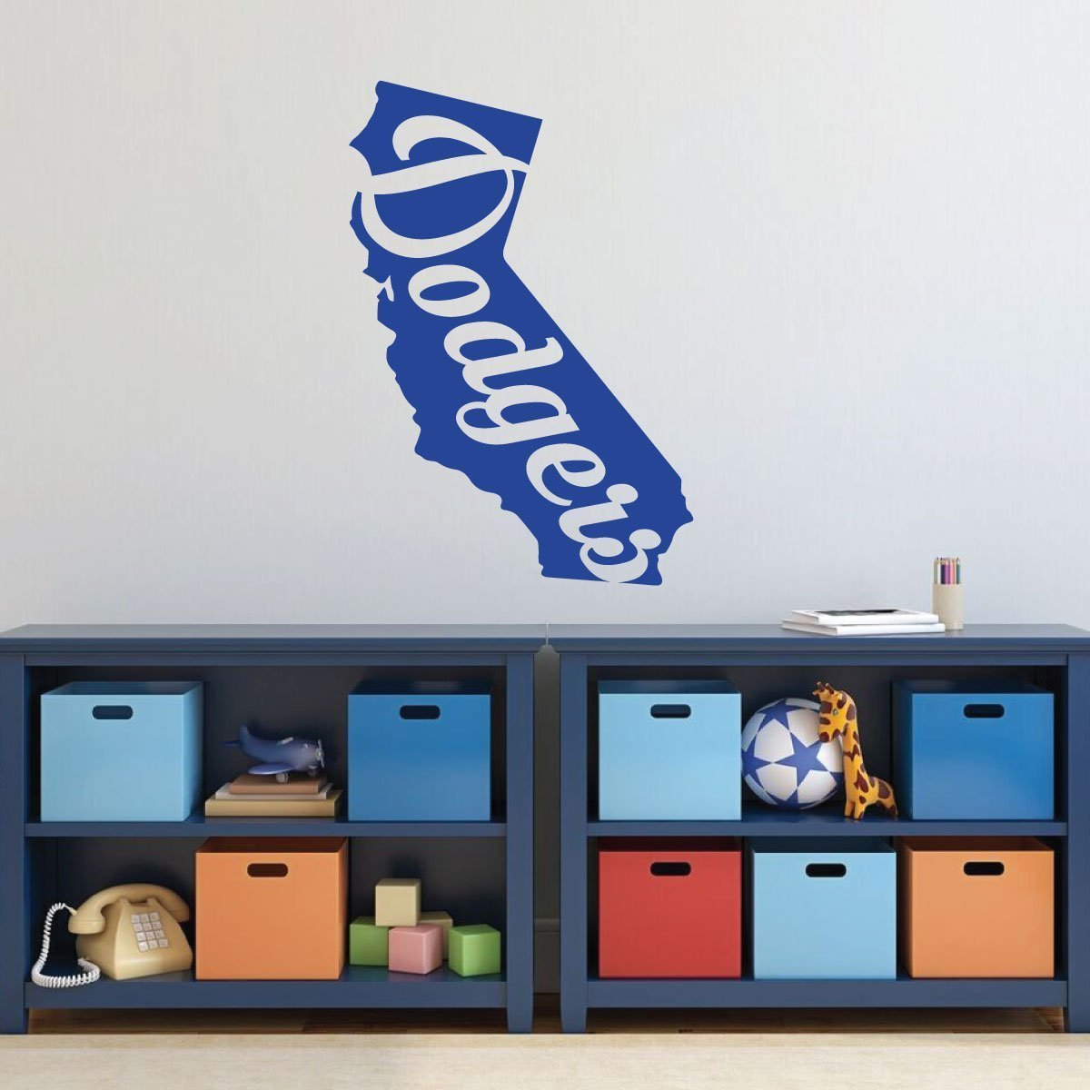 LA Dodgers Wall Decor - State Of California Baseball Decorations