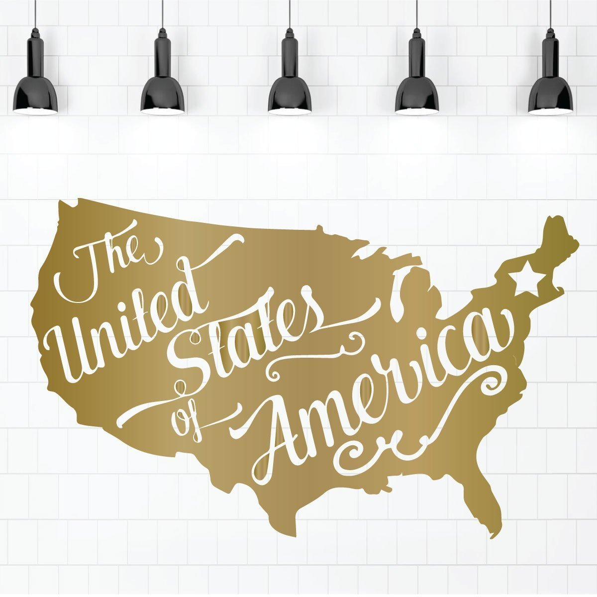 Patriotic Wall Decals - United States Map - The United States Of America