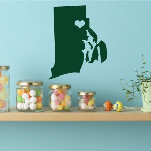 Rhode Island State Vinyl Wall Decal - Map Silhouette Decoration