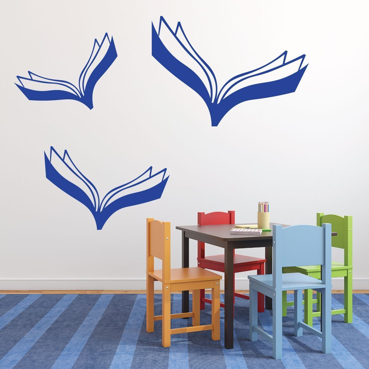 Wall Sticker Book - Flying Books Design