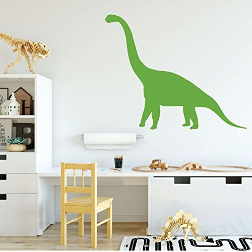 Dinosaur Wall Decals - Brontosaurus - Personalized Dinosaur Wall Art - Dinosaur Vinyl Wall