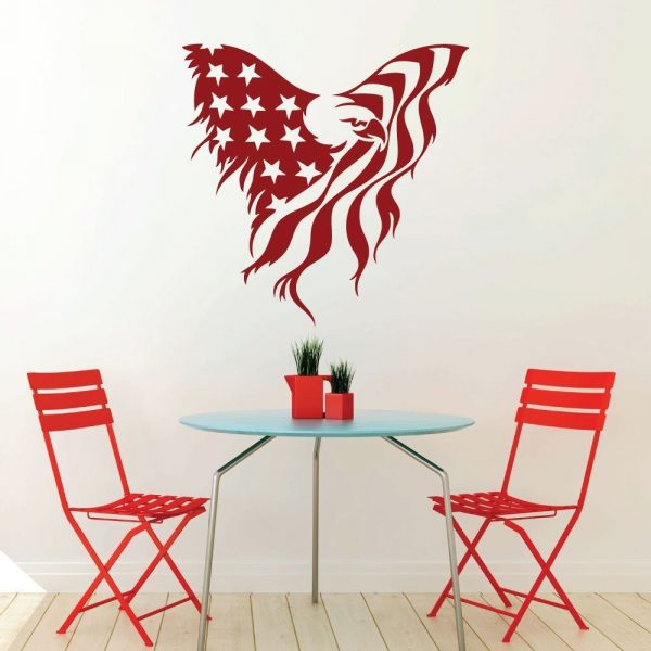 Patriotic Decals - - American Eagle Flag Wall Decor, Images of America