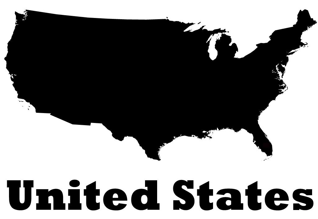 United States Of America Vinyl Wall Decal Country Map Silhouette - Map silhouette
