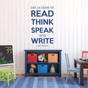 United State President - Wall Decal - John Adams - Let Us Dare To Read, Think, Speak And Write