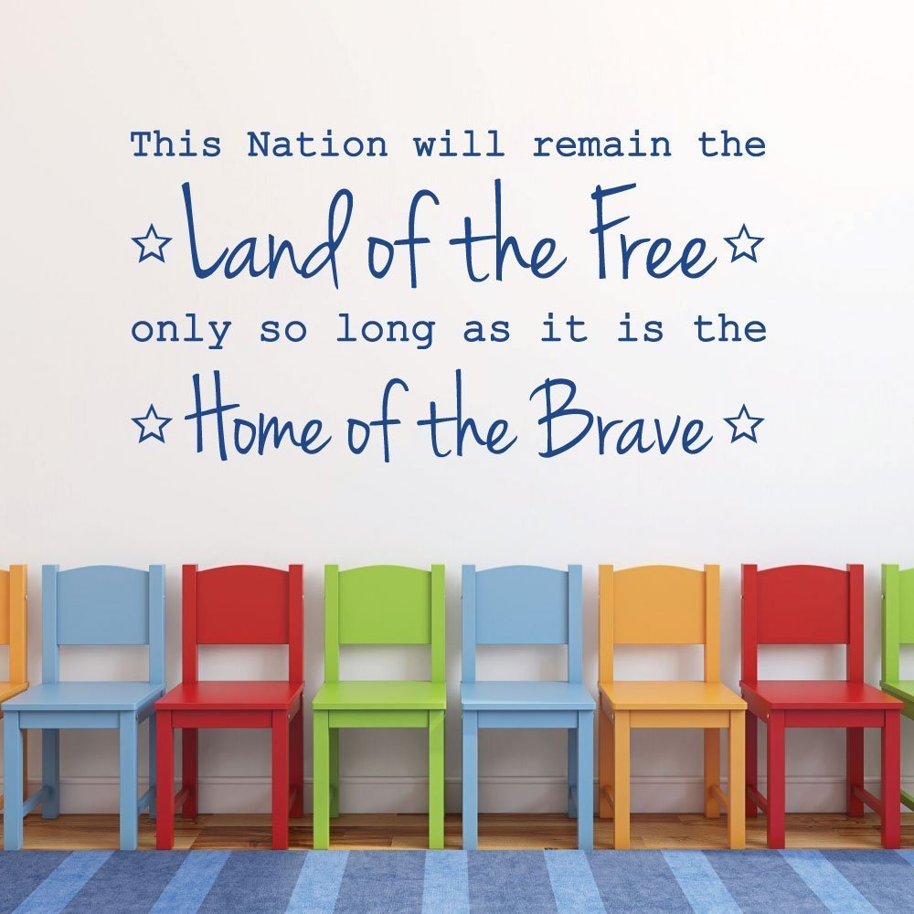 Patriotic Decals - This Nation Will Remain The Land of The Free
