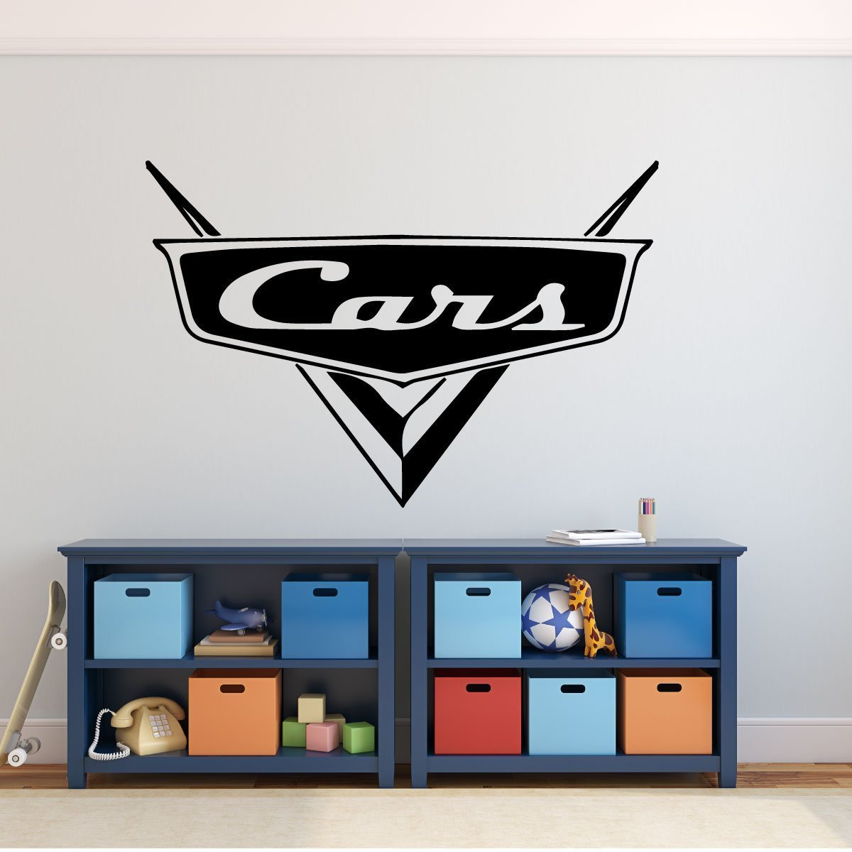 Disney Pixar Cars - Personalized Cars Emblem Wall Decal for Man Cave or Garage