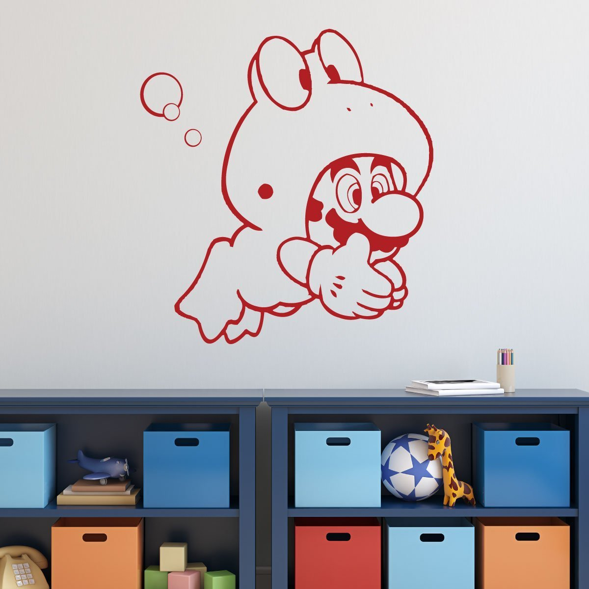 Super Mario Wall Decor   Mario Frog Suit   Vinyl Wall Decal For Boys Room