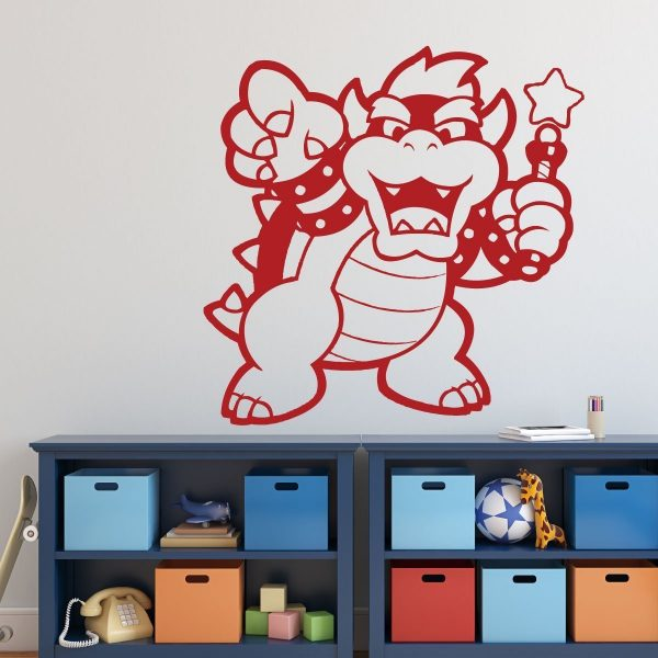 Bowser Vinyl Wall Decal for Boys Room, Playroom, Video Game Fan