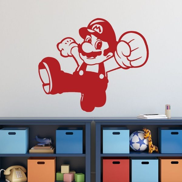 Super Mario Wall Decor - Mario Punch - Personalized Vinyl Wall Decal
