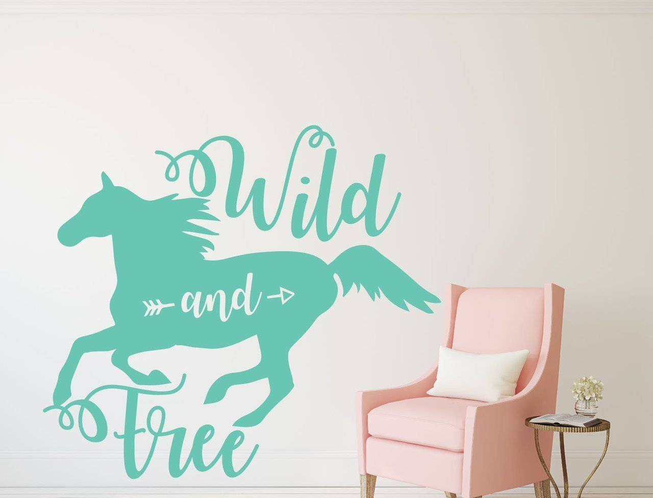 Horse Wall Decor - Wild and Free