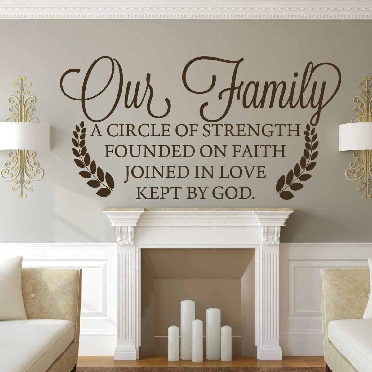 Family Wall Decor - Our Family A Circle Of Strength Founded On Faith Joined In Love Kept By God