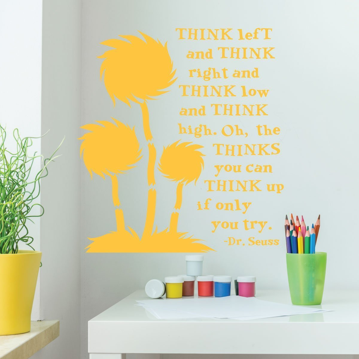 Dr. Seuss Wall Decor for Classrooms-Think Left And Think Right And ...