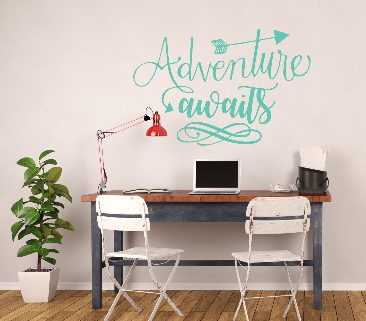 Classroom Decor Vinyl ~ Adventure wall decal awaits quote vinyl