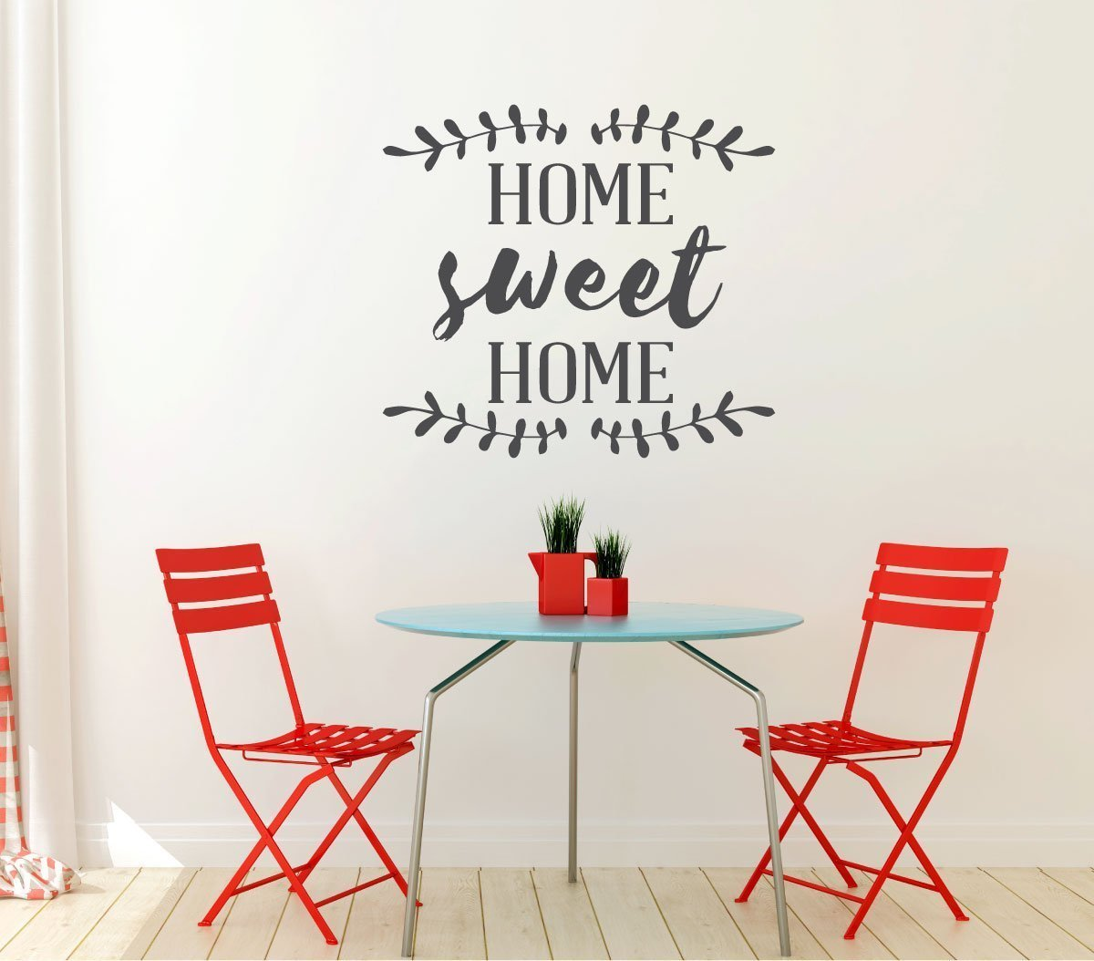 Home Sweet Home Vinyl Wall Art Decal For Living Dining, Family Room, or Entryway Decor